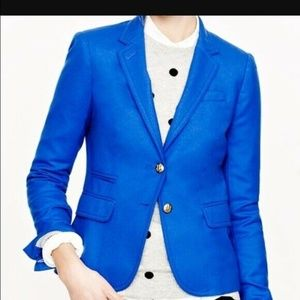 NWOT J Crew Royal Blue Wool Schoolboy Blazer Sz 8